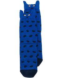 Paul Smith Sokken Met Dierenprint - Blauw