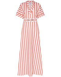 Evi Grintela Striped V-neck Maxi Dress - Multicolour