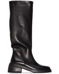 Marsèll Knee-high Block Heel Boots - Black
