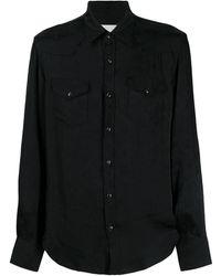 Laneus ロングスリーブ シャツ - ブラック
