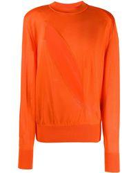 Versace Cut-out Sweater - Orange