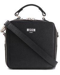 MSGM Logo-print Tote Bag - Black
