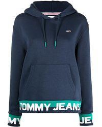 Tommy Hilfiger ロゴ ドローストリング パーカー - ブルー