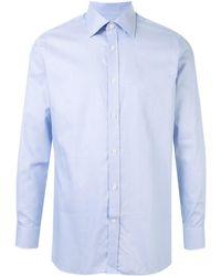 Gieves & Hawkes ボタン シャツ - ブルー