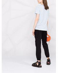 Chinti & Parker Snoopy Bow ストライプ Tシャツ - ブルー