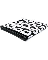 DSquared² Пляжное Полотенце С Логотипом - Черный