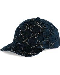 Gucci GG Velvet Baseball Cap - Multicolor