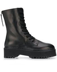 P.A.R.O.S.H. Lace-up Platform Boots - Black