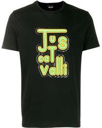 Just Cavalli ロゴ Tシャツ - ブラック