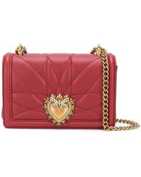 Dolce & Gabbana Devotion ラムスキン ショルダーバッグ - レッド