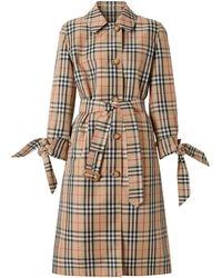 Burberry - Пальто В Клетку Vintage Check - Lyst