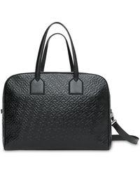 Burberry Grand sac fourre-tout Cube à motif monogrammé - Noir