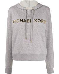 MICHAEL Michael Kors メタリックロゴ パーカー - グレー