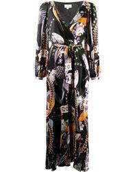 Temperley London コスモス ラップドレス - ブラック