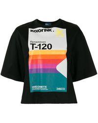 Kolor プリント Tシャツ - ブラック