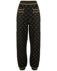 Gucci GGスプリーム ニットパンツ - ブラック