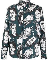 AMI Рубашка С Принтом - Зеленый