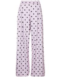 LAYEUR - Printed Palazzo Trousers - Lyst