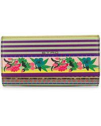 Etro Floral Print Purse - Purple