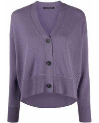 Luisa Cerano Fine-knit Cardigan - Purple