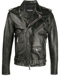 DSquared² Байкерская Куртка - Черный