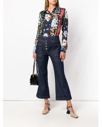 Carven High-waist Cropped Jeans - Blue