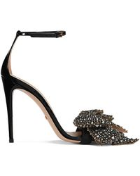 89eaec509 Gucci - Patent Leather Sandals With Removable Crystal Bows - Lyst