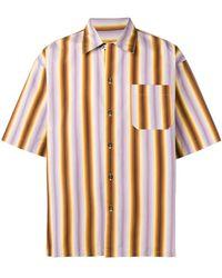 Marni - Camisa a rayas de manga corta - Lyst