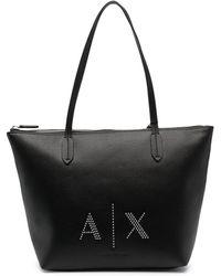 Armani Exchange ロゴ トートバッグ - ブラック