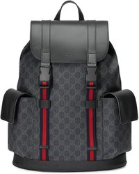 Gucci GG Supreme Pattern Backpack - Black