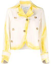 Lanvin Tie-dye Collared Jacket - Yellow