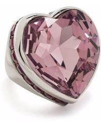 Ambush New Heart Box Ring Silver Pink - メタリック