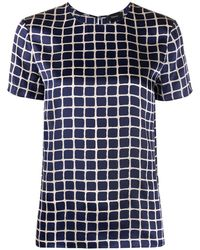 Theory Check Short-sleeve Top - Blue