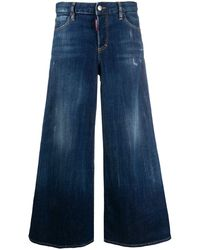 DSquared² Cropped Flared Jeans - Blue