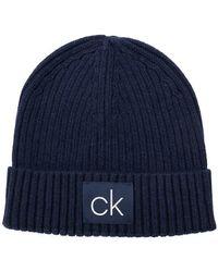 Calvin Klein - Ribbed Beanie - Lyst