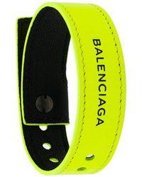 Balenciaga Logo Bracelet - Yellow