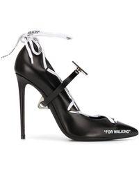 Off-White c/o Virgil Abloh Zapatos de tacón 110 con cordones - Negro
