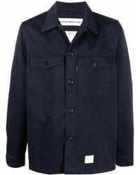 Department 5 ロゴパッチ シャツジャケット - ブルー
