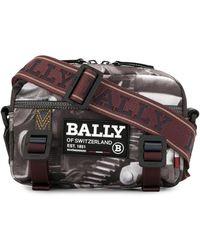 Bally グラフィック メッセンジャーバッグ - グレー