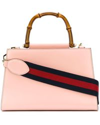 Gucci Nymphaea GG Web Tote Bag - Pink