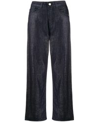 Emporio Armani High-waist Cropped Trousers - Blue