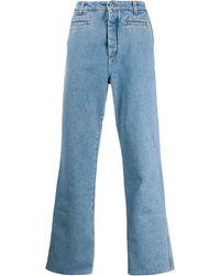Loewe Turn-up Hem Jeans - Blue