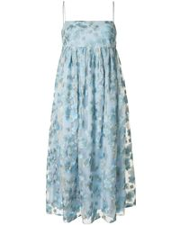 Macgraw Blubell シルクドレス - ブルー