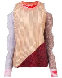 Zoe Jordan - Cut-out Knitted Sweater - Lyst