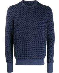 Drumohr Crew-neck Cashmere Sweater - Blue