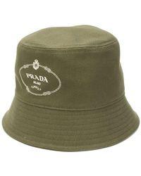 Prada - Sombrero de pescador con logo estampado - Lyst 5f82769d765