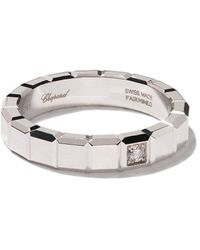 Chopard Anillo con diamantes Ice Cube en oro blanco de 18kt - Multicolor