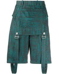 Thebe Magugu Gemusterte Shorts - Grün