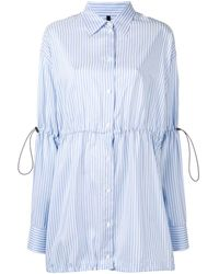 Unravel Project ピンストライプ シャツドレス - ブルー