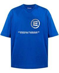 Etudes Studio Spirit ロゴ Tシャツ - ブルー